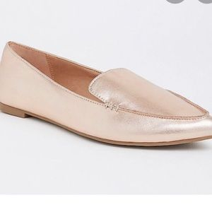 Torrid rose gold pointed toe flats 10 Wide